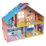 Дом для кукол из бумаги своими руками