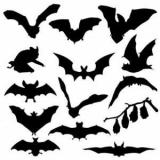 Украшение и угощение в виде летучих мышей на Хэллоуин